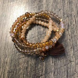 Genuine Crystal Bead Bracelet